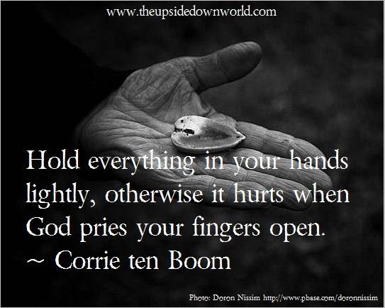 hold lightly