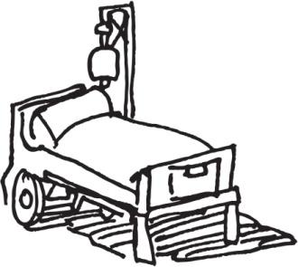 Hospital Bed Sketch
